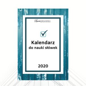 Kalendarz do nauki słówek na 2020 rok